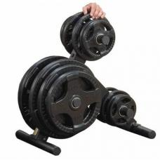 Body Solid Olympic Plate Tree OWT24 Stand para discos olímpicos uso residencial y comercial