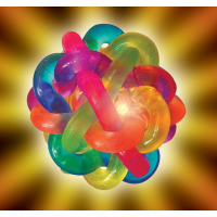 Flashing Orbit Ball Pelota de llamativos colores que prende al rebotar L40255. Paquete de 3