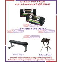 Combo Powerblock BASIC U33 Incluye Stand, Travel Bench y DVD