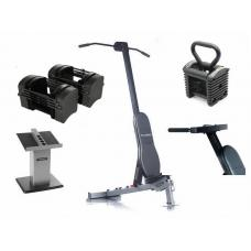 Combo Powerblock PRO EXP 50 GOLD Incluye Column Stand, Sport Bench, Chin Attachment y Dip Attachment